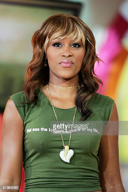 Actress and singer Eve appears on stage during MTV's Total Request Live at the MTV Times Square Studios September 27 2004 in New York City