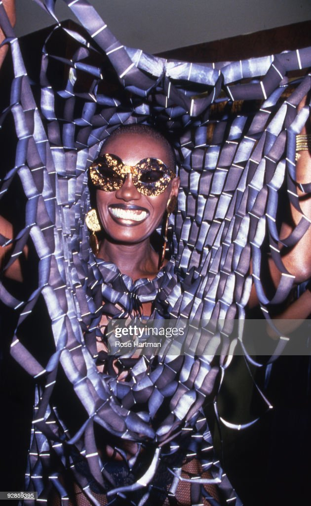 Actress and singer Grace Jones smiles while partying at Studio 54 in New York, 1978.