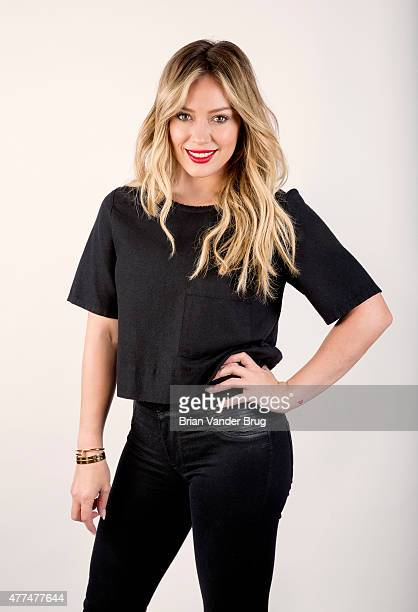 Actress and singer Hilary Duff is photographed for Los Angeles Times on June 13 2015 in Beverly Hills California PUBLISHED IMAGE CREDIT MUST READ...
