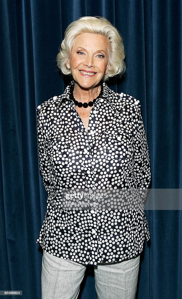 Actress and singer Honor Blackman poses for a photograph whilst recording her single 'The Star Who Fell From Grace' at Angel Studios on May 15, 2008 in London, England.