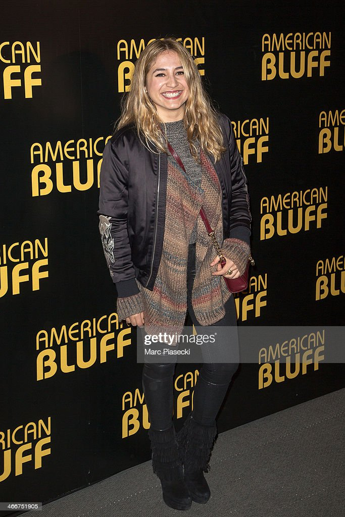 Actress and singer Izia Higelin attends the 'American Bluff' Paris Premiere at Cinema UGC Normandie on February 3, 2014 in Paris, France.