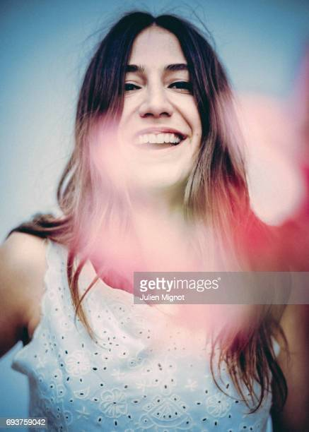Actress and singer Izia Higelin is photographed for Self Assignment on May 13 2017 in Paris France