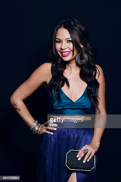 Actress and singer Janel Parrish is photographed at the Fox 2014 Teen Choice Awards at The Shrine Auditorium on August 10 2014 in Los Angeles...