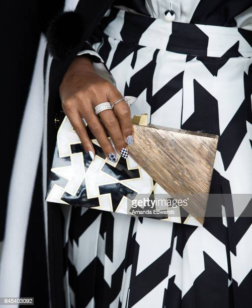 Actress and singer Janelle Monae clutch detail during the 2017 Film Independent Spirit Awards at the Santa Monica Pier on February 25 2017 in Santa...