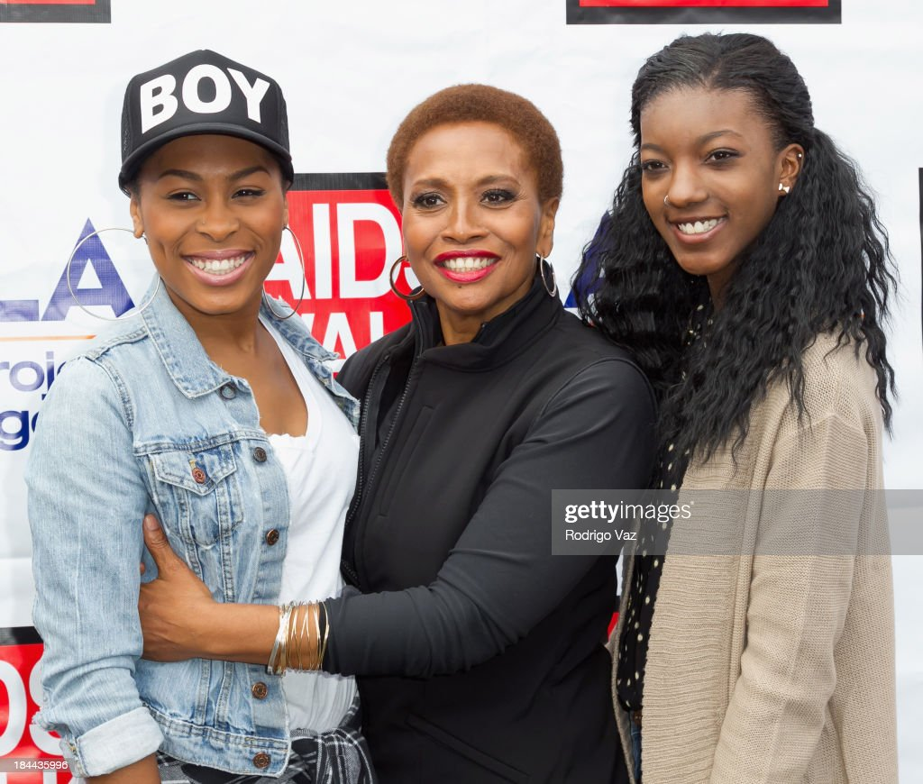 Actress and singer <a gi-track='captionPersonalityLinkClicked' href=/galleries/search?phrase=Jenifer+Lewis&family=editorial&specificpeople=609395 ng-click='$event.stopPropagation()'>Jenifer Lewis</a> (C) and Charmaine Lewis attend the 29th Annual AIDS Walk LA on October 13, 2013 in West Hollywood, California.