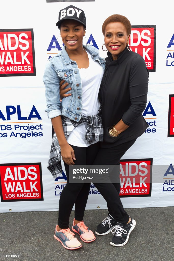 Actress and singer <a gi-track='captionPersonalityLinkClicked' href=/galleries/search?phrase=Jenifer+Lewis&family=editorial&specificpeople=609395 ng-click='$event.stopPropagation()'>Jenifer Lewis</a> (R) attends the 29th Annual AIDS Walk LA on October 13, 2013 in West Hollywood, California.