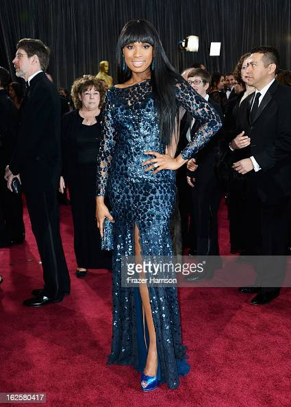 Actress and singer Jennifer Hudson arrives at the Oscars at Hollywood Highland Center on February 24 2013 in Hollywood California