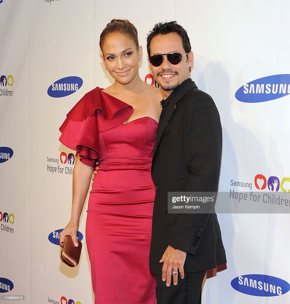 Actress and singer Jennifer Lopez and singer Marc Anthony attend the Samsung Hope for Children gala at Cipriani Wall Street on June 7, 2011 in New York City.