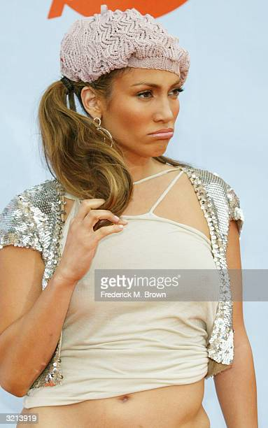 Actress and singer Jennifer Lopez attends Nickelodeon's 17th Annual Kids' Choice Awards at Pauley Pavilion on the campus of UCLA April 3 2004 in...