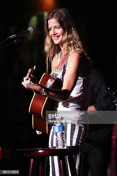 Actress and singer Jill Hennessy performs at the album release party for Jill Hennessy's 'I Do' at The Cutting Room on October 5 2015 in New York City