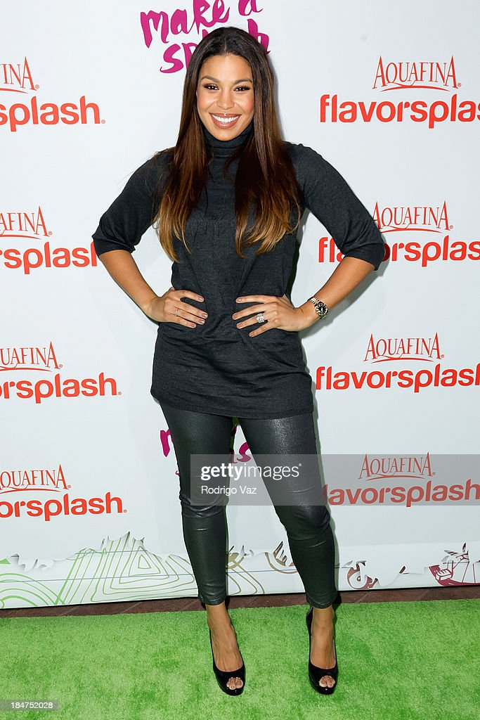 Actress and singer Jordin Sparks attends the Aquafina FlavorSplash Launch at Sony Pictures Studios on October 15, 2013 in Culver City, California.
