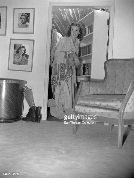 Actress and singer Judy Garland in her MGM dressing room circa 1940 in Los Angeles California