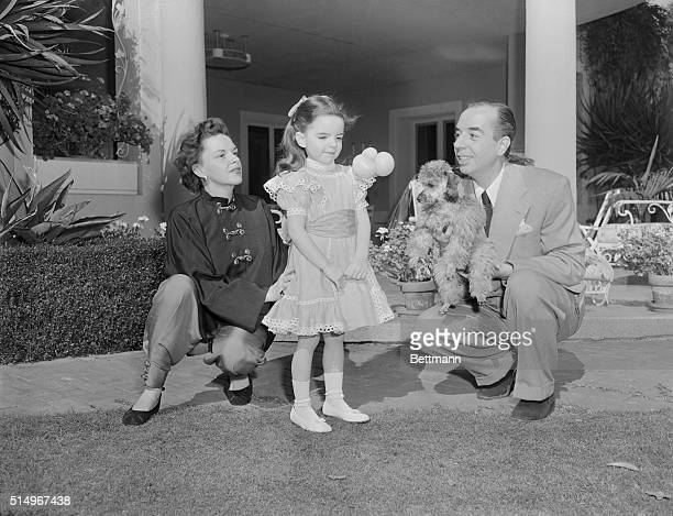 Actress and singer Judy Garland with her husband director Vincente Minnelli and their daughter Liza Minnelli