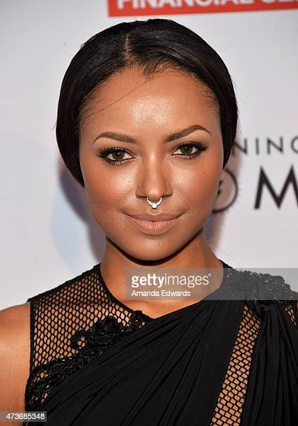 Actress and singer Kat Graham arrives at An Evening With Women Benefiting The Los Angeles LGBT Center at the Hollywood Palladium on May 16 2015 in...