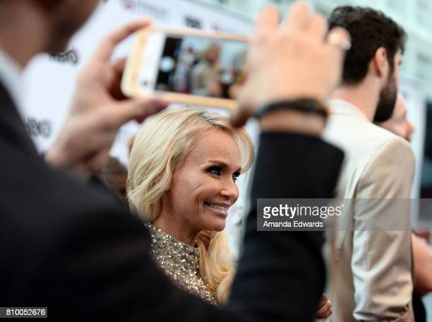 Actress and singer Kristin Chenoweth arrives at the 2017 Outfest Los Angeles LGBT Film Festival Opening Night Gala of 'God's Own Country' at the...