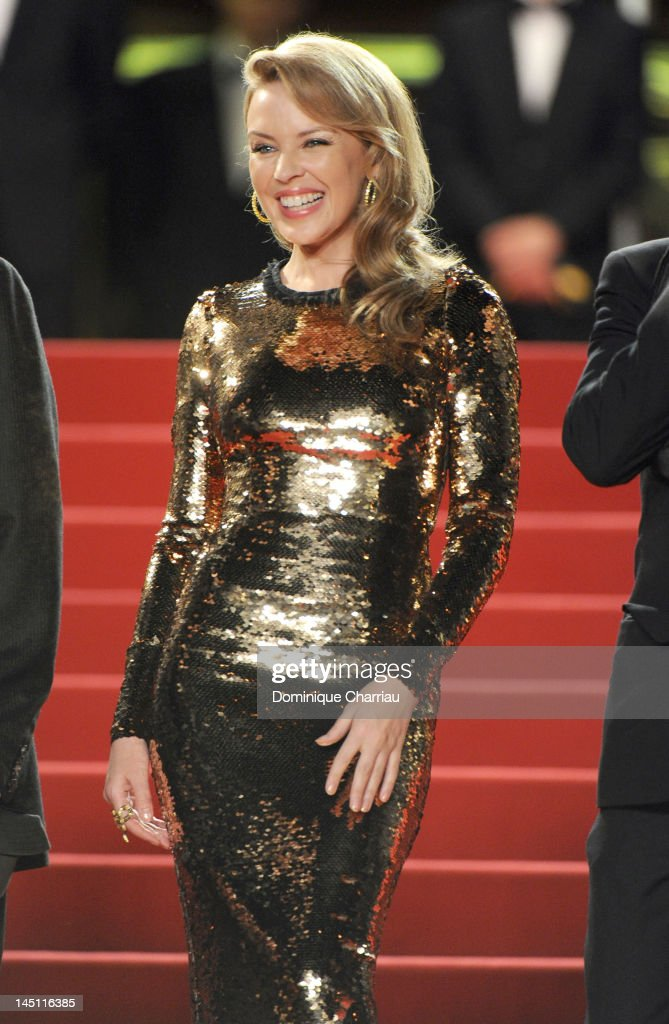 Actress and singer <a gi-track='captionPersonalityLinkClicked' href=/galleries/search?phrase=Kylie+Minogue&family=editorial&specificpeople=201671 ng-click='$event.stopPropagation()'>Kylie Minogue</a> attends the 'Holy Motors' Premiere during the 65th Annual Cannes Film Festival at Palais des Festivals on May 23, 2012 in Cannes, France.