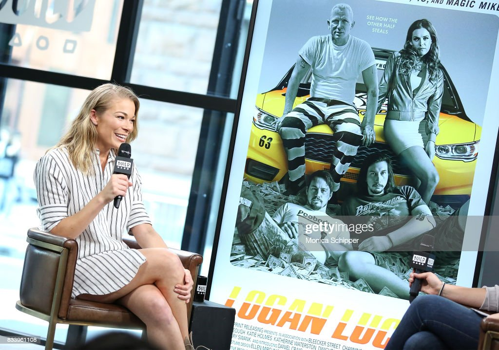 Actress and singer LeAnn Rimes discusses her role in the film 'Logan Lucky' at Build Studio on August 17, 2017 in New York City.