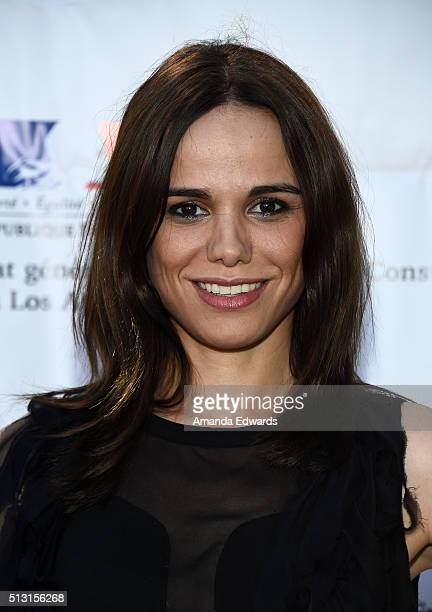 Actress and singer Melissa Mars attends the Champagne brunch reception honoring the French nominees for The 88th Academy Awards at La Residence de...