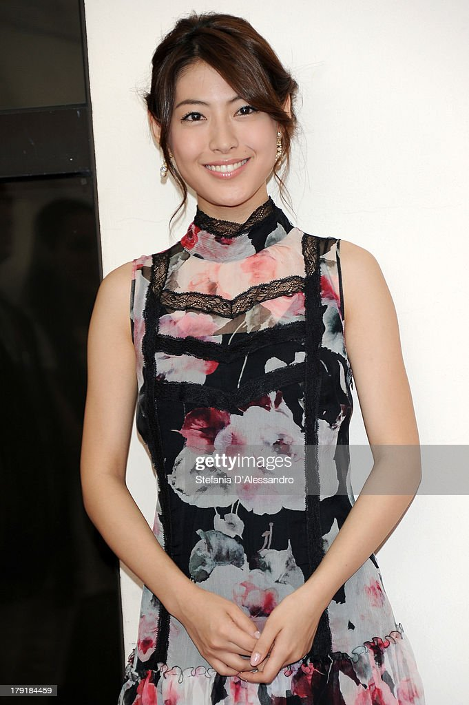 Actress and singer <a gi-track='captionPersonalityLinkClicked' href=/galleries/search?phrase=Miori+Takimoto&family=editorial&specificpeople=11323135 ng-click='$event.stopPropagation()'>Miori Takimoto</a> attends 'Kaze Tachinu' Photocall during the 70th Venice International Film Festival at Palazzo del Casino on September 1, 2013 in Venice, Italy.