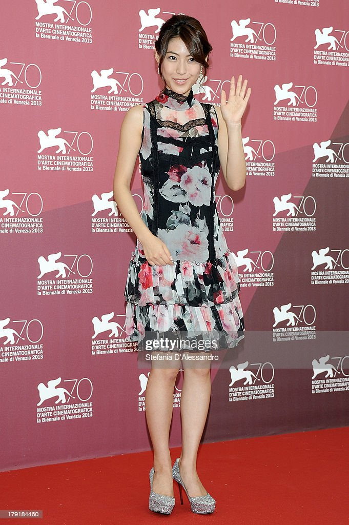 Actress and singer Miori Takimoto attends 'Kaze Tachinu' Photocall during the 70th Venice International Film Festival at Palazzo del Casino on September 1, 2013 in Venice, Italy.