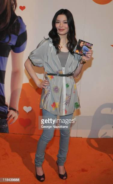 Actress and singer Miranda Cosgrove attends a CD signing at the Licensing 2008 International on June 10 2008 at the Jacob K Javits Convention Center...