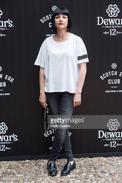Actress and singer Najwa Nimri attends the Dewar's Scotch Egg Club opening party at the Real Fabrica de Tapices on July 6 2016 in Madrid Spain