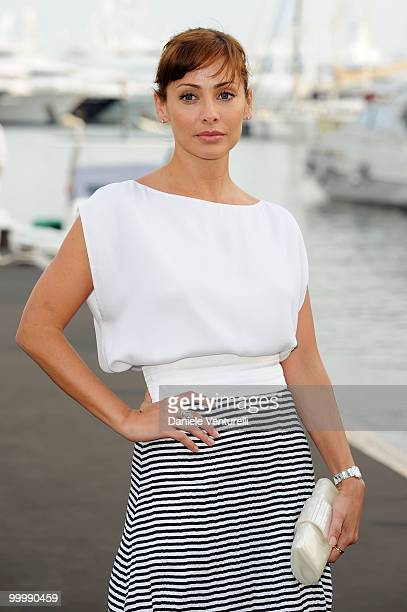Actress and singer Natalie Imbruglia attends the Fair Game Cocktail Party hosted by Giorgio Armani held aboard his boat 'Main' during the 63rd Annual...