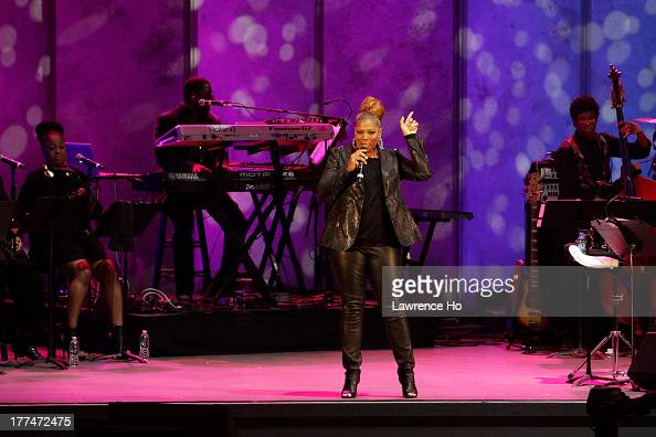 Actress and singer Queen Latifah is photographed during her performance at the Hollywood Bowl for Los Angeles Times on July 10 2013 in Los Angeles...