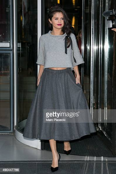 Actress and singer Selena Gomez is seen at 'NRJ' radio studios on September 28 2015 in Paris France