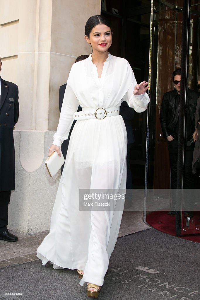 Actress and singer Selena Gomez is seen on September 26 2015 in Paris France