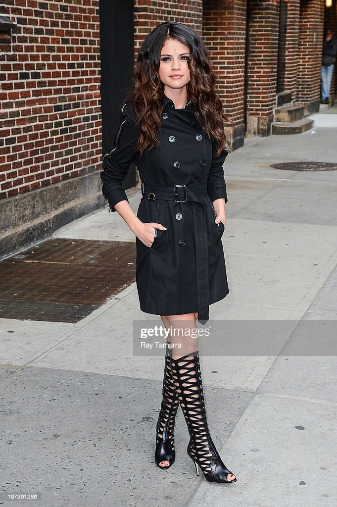 Actress and singer Selena Gomez leaves the 'Late Show With David Letterman' taping at the Ed Sullivan Theater on April 24, 2013 in New York City.