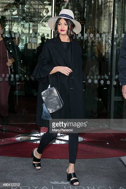 Actress and singer Selena Gomez leaves the 'Royal Monceau' hotel on September 28 2015 in Paris France
