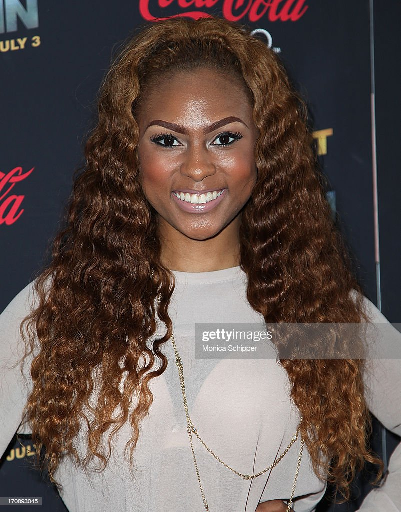 Actress and singer Tashiana Washington attends the 'Kevin Hart:Let Me Explain' premiere at Regal Cinemas Union Square on June 19, 2013 in New York City.
