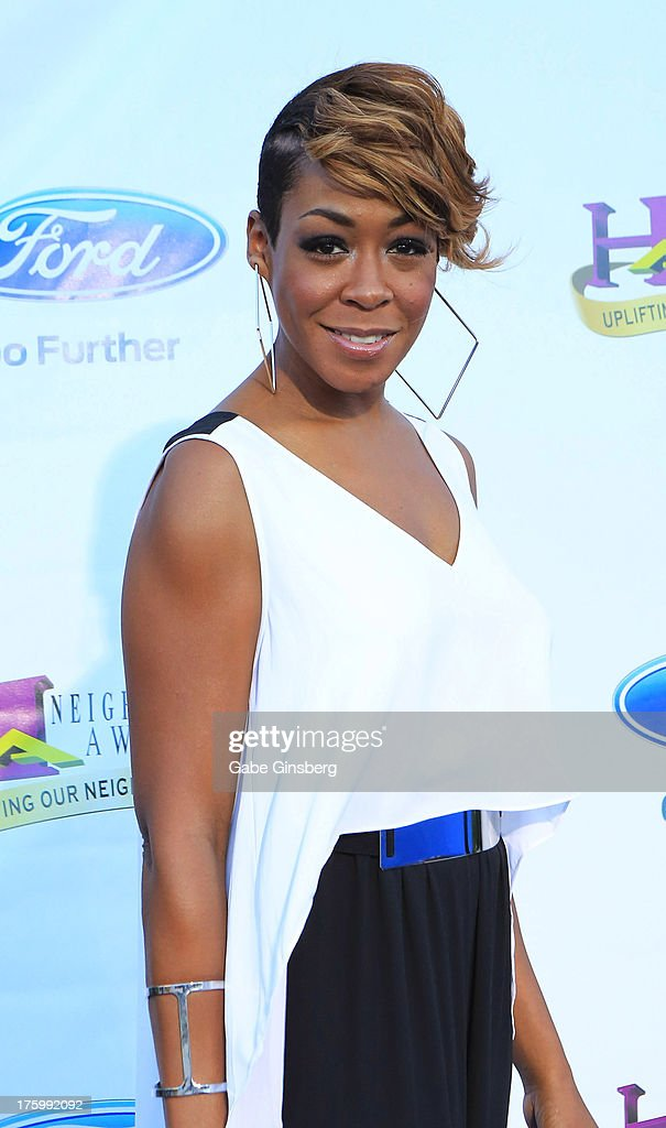 Actress and singer Tichina Arnold arrives at the 11th annual Ford Neighborhood Awards at the MGM Grand Garden Arena on August 10, 2013 in Las Vegas, Nevada.