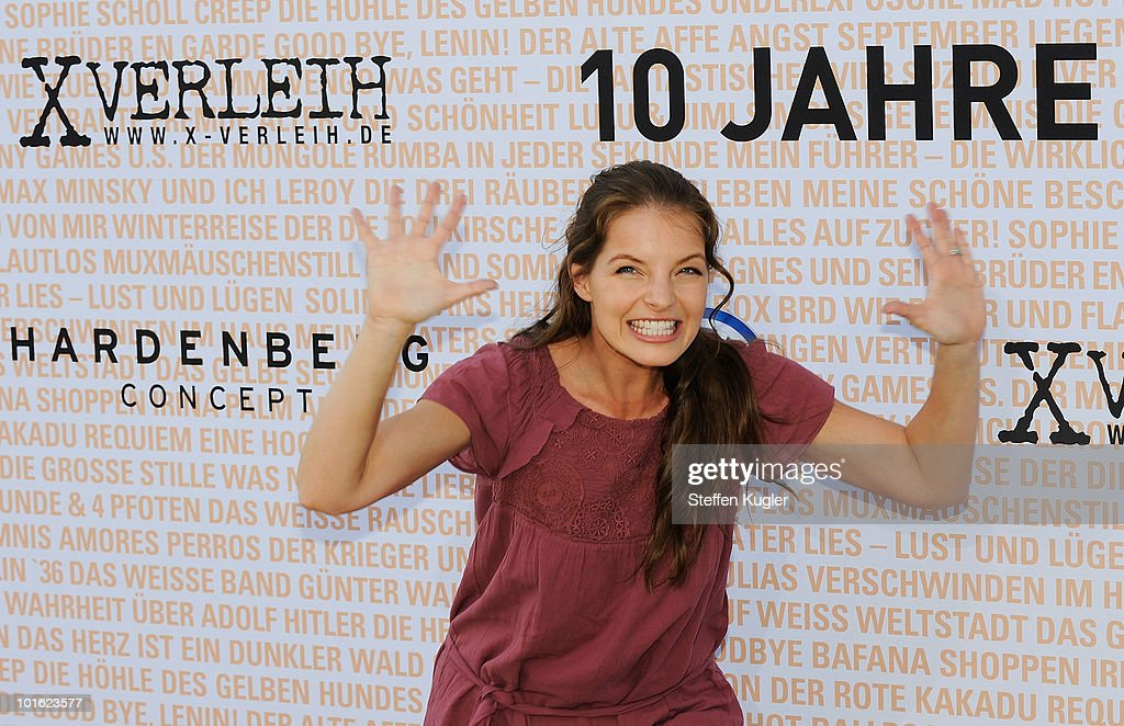 Actress and singer Yvonne Catterfeld poses for a photo at the 10 Years XVerleih reception on June 4 2010 in Berlin Germany