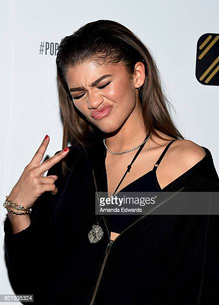 Actress and singer Zendaya arrives at the Daya by Zendaya Popup Shop at Known Gallery on November 5 2016 in Los Angeles California