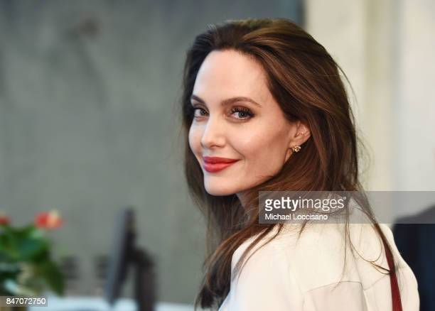 Actress and Special Envoy to the United Nations High Commissioner for Refugees Angelina Jolie visits The United Nations on September 14 2017 in New...