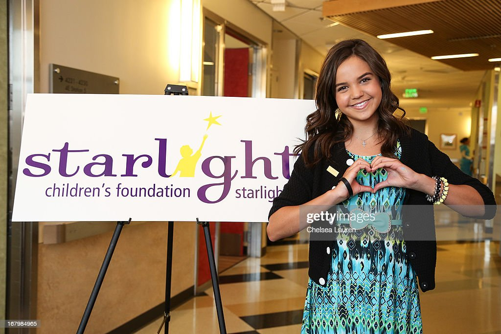 Actress and Starlight Ambassador Bailee Madison attends Starlight Day at Children's Hospital LA at Childrens Hospital Of Los Angeles on May 3, 2013 in Los Angeles, California.