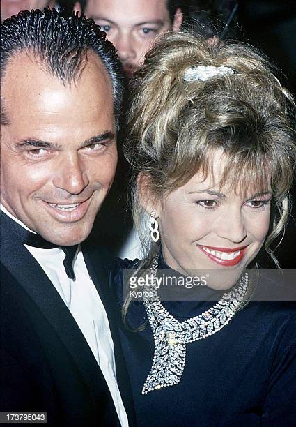 Actress and television personality Vanna White with her husband George Santo Pietro circa 1992