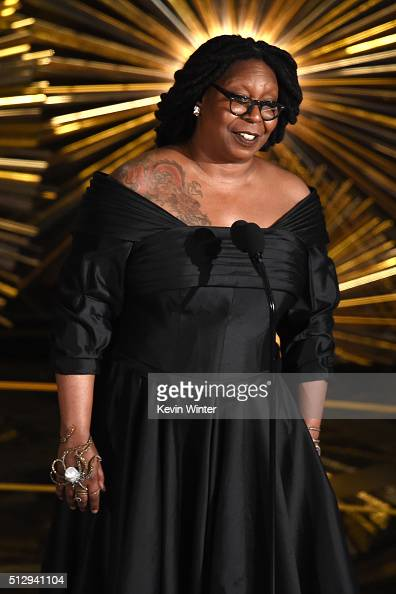 Actress and TV personality Whoopi Goldberg speaks onstage during the 88th Annual Academy Awards at the Dolby Theatre on February 28 2016 in Hollywood...