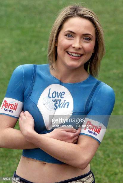 Actress and TV presenter Lisa Rogers stripped down to the bare minimum beneath Marble Arch in London where she launched the Persil NonBio Love Your...