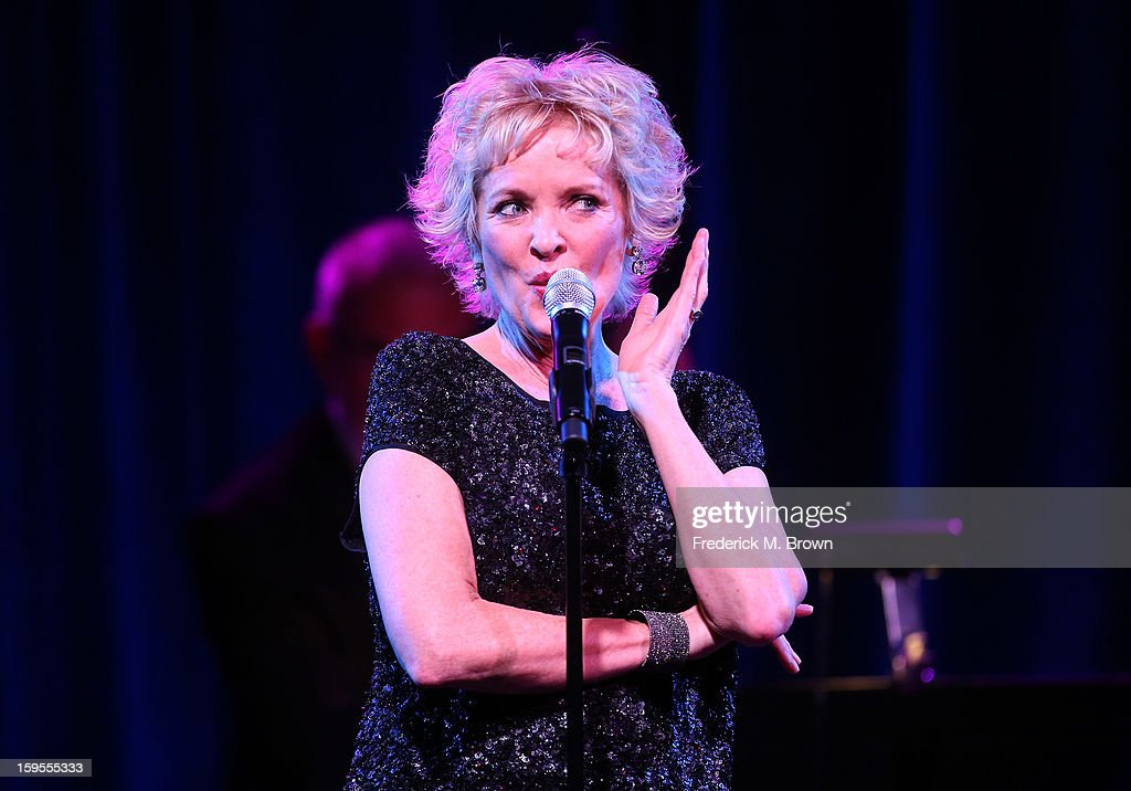 Actress and two-time Tony winner <a gi-track='captionPersonalityLinkClicked' href=/galleries/search?phrase=Christine+Ebersole&family=editorial&specificpeople=214025 ng-click='$event.stopPropagation()'>Christine Ebersole</a> performs during the PBS Portion- Day 2 of the 2013 Winter Television Critics Association Press Tour at Langham Hotel on January 15, 2013 in Pasadena, California.