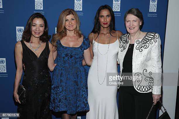 Actress and UNDP Goodwill Ambassador Michelle Yeoh Actress and UNDP Goodwill Ambassador Connie Britton Executive Producer author and host Padma...