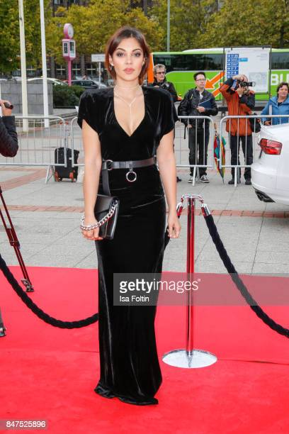 Actress and VideoBlogger Nilam Farooq attends the UFA 100th anniversary celebration at Palais am Funkturm on September 15 2017 in Berlin Germany