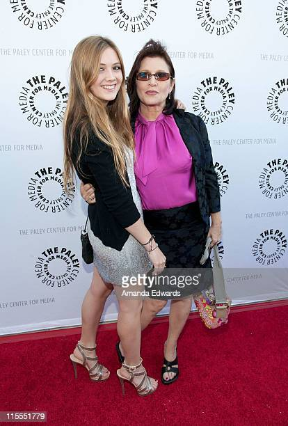 Actress and writer Carrie Fisher and her daughter Billie Lourd arrive at The Paley Center For Media TCM Present Debbie Reynolds' Hollywood...
