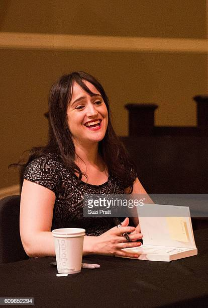 Actress and writer Mara Wilson signs copies of her new book at Town Hall Seattle on September 21 2016 in Seattle Washington