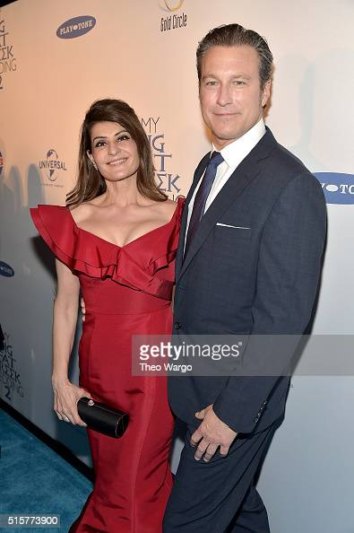 Actress and writer Nia Vardalos and actor John Corbett attend 'My Big Fat Greek Wedding 2' New York Premiere at AMC Loews Lincoln Square 13 theater...