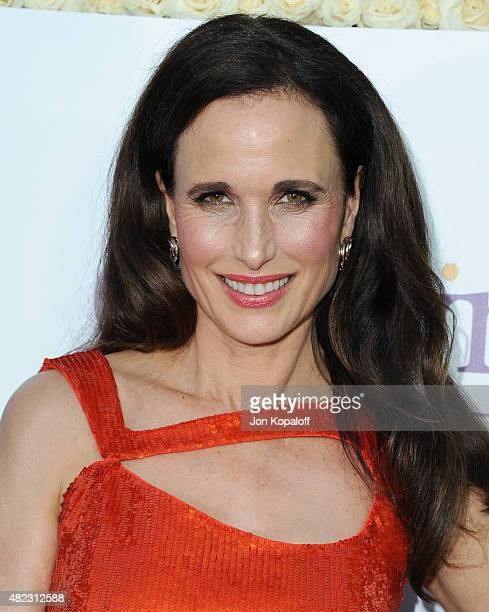 Actress Andie MacDowell arrives at 2015 Summer TCA Tour Hallmark Channel and Hallmark Movies And Mysteries on July 29 2015 in Beverly Hills California
