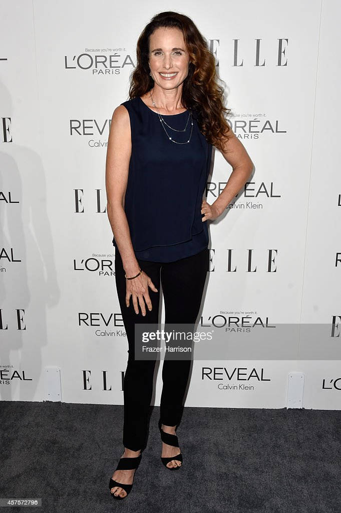 Actress Andie MacDowell arrives at ELLE's 21st Annual Women In Hollywood at Four Seasons Hotel Los Angeles at Beverly Hills on October 20 2014 in...