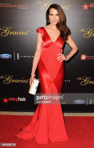 Actress Andie MacDowell arrives at the 39th Annual Gracie Awards at The Beverly Hilton Hotel on May 20 2014 in Beverly Hills California